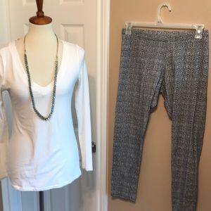 Ambiance soft V neck top & ANA leggings sz large